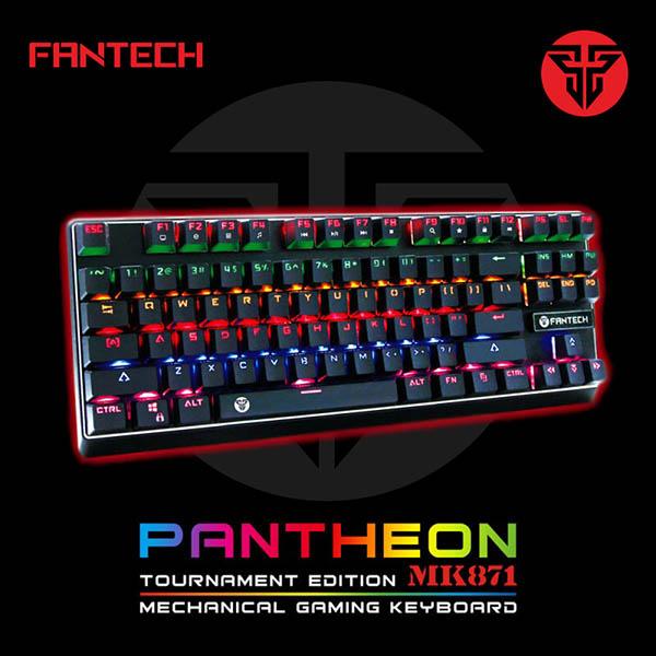 Fantech Keyboard Gaming Mechanical MK871 Pantheon (Blue Switch)
